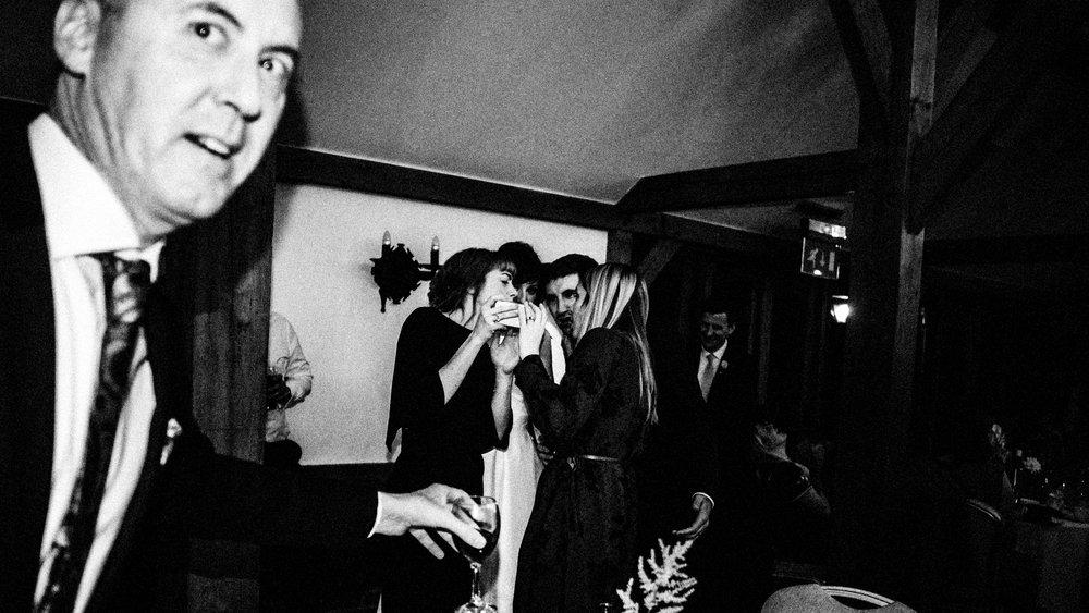 Photobombing. Cheshire wedding