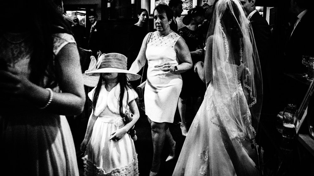 Flower girl at receiving line