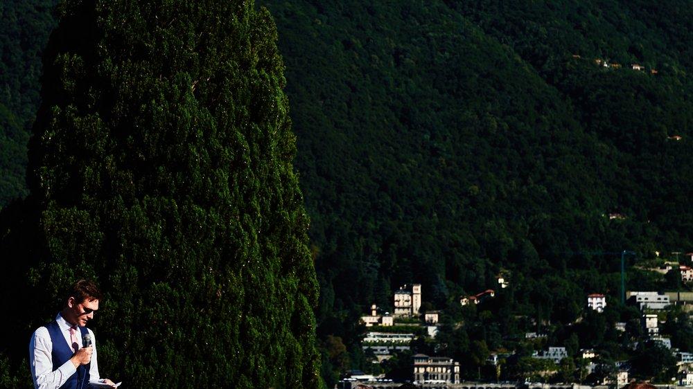 Grooms speech, Villa Passalacqua, Como