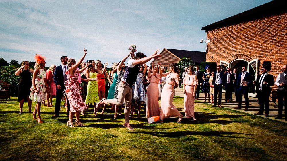 fun wedding at merrydale manor wedding venue cheshire