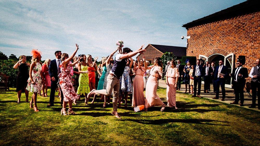 fun wedding at merrydale manor wedding venue cheshire