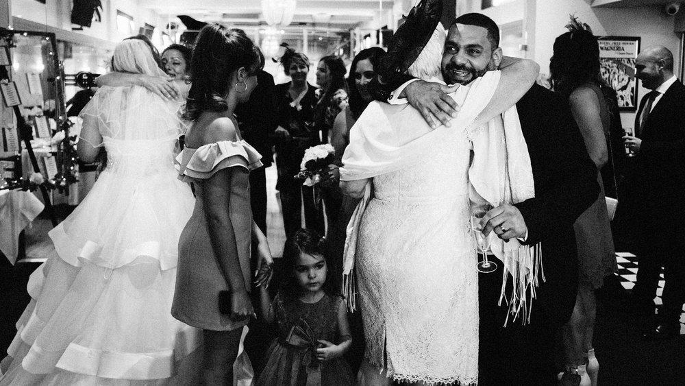 big hugs after essex wedding