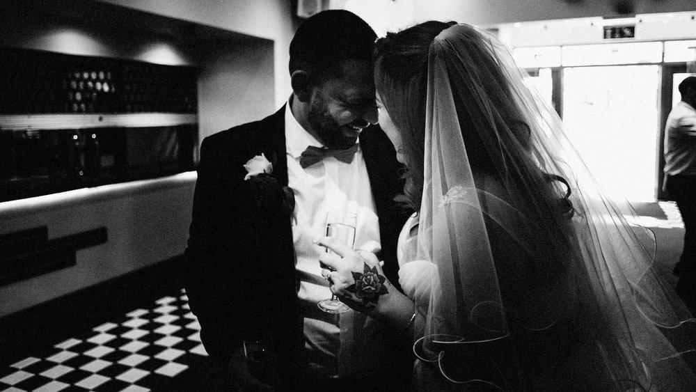 happy wedding couple in essex