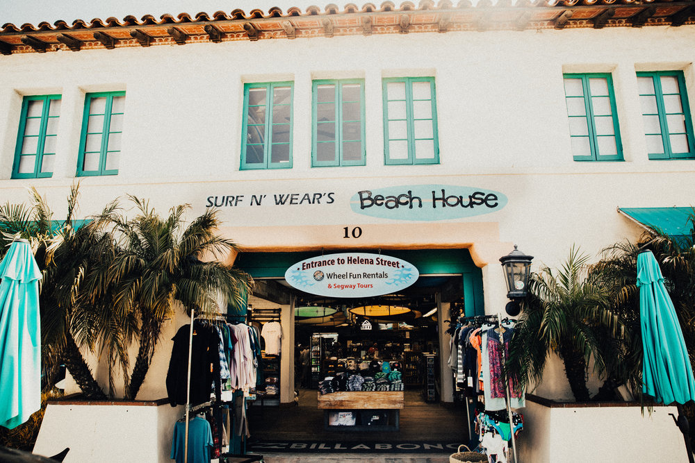 The Beach House - Surf N' Wear Beach House has been serving the spirit and romance of surfing since 1962. The shop first opened in Summerland, CA just four miles from The Queen of the Coast, Rincon Point. Needless to say, the shop was closed when the surf was up. Over 50 years later we're still serving the same surfers and their families, although we don't close for waves these days.