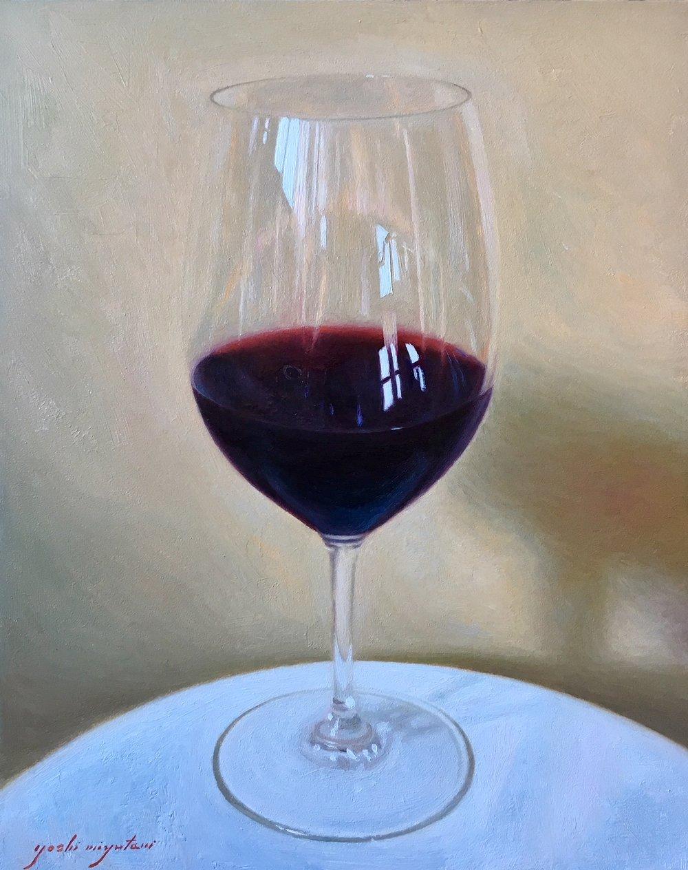 Glass of Bordeaux