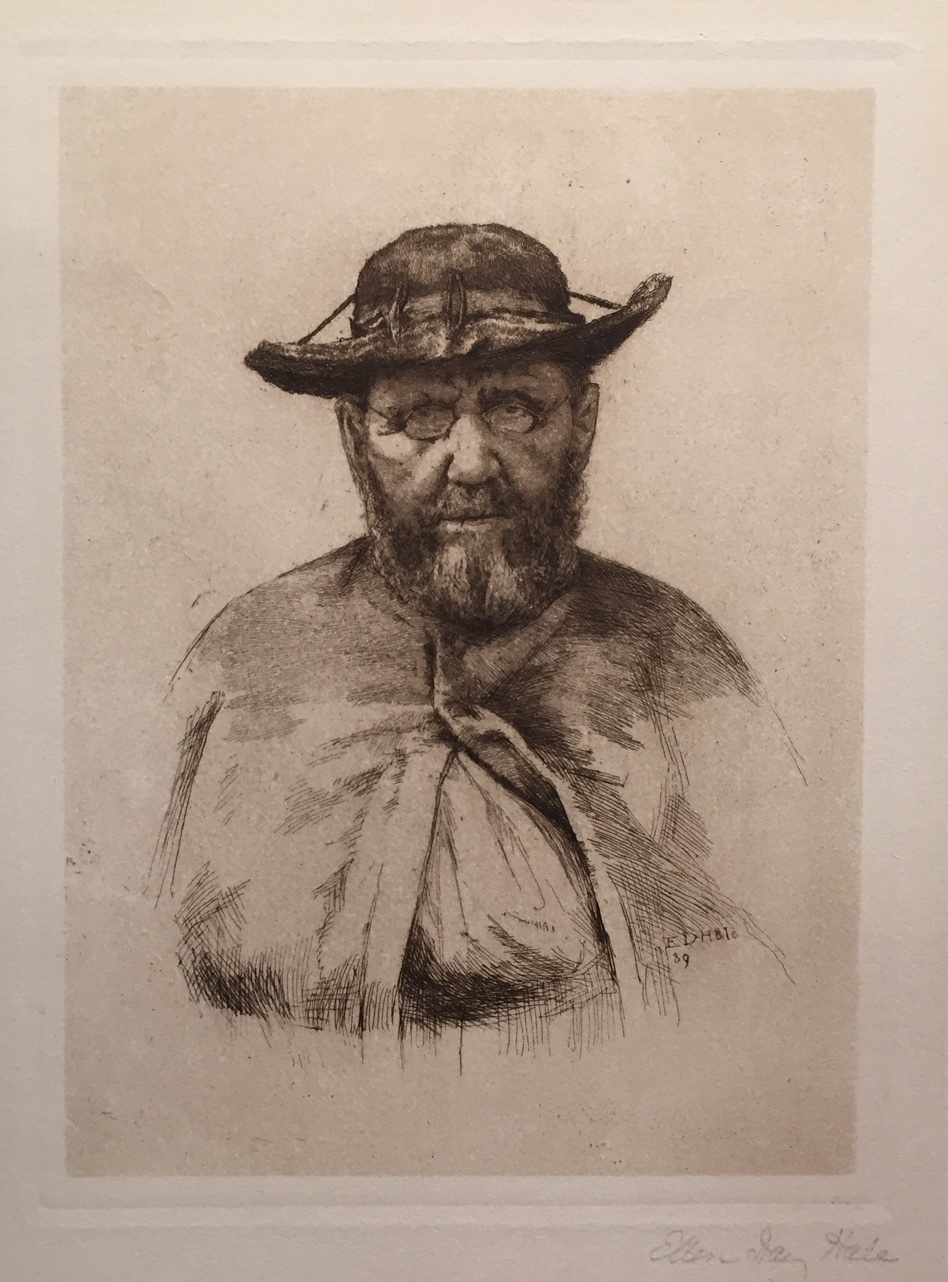 Father Damian 1889 , Etching on paper