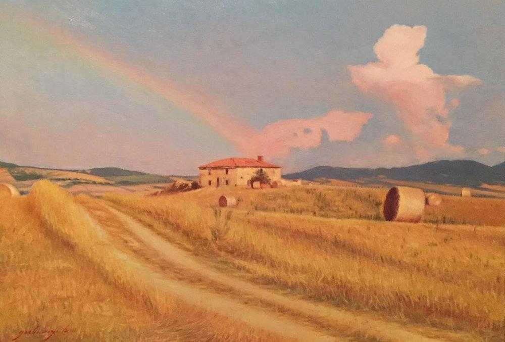 Rainbow, Val d' Orcia, Tuscany