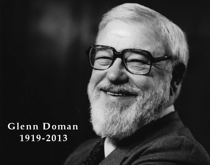 Glenn Doman, founder of The Doman Method, born 1919.