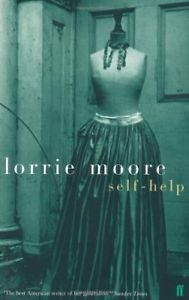 Self-Help by Lorrie Moore cover with full length skirt on a dress form in an old, dirty house