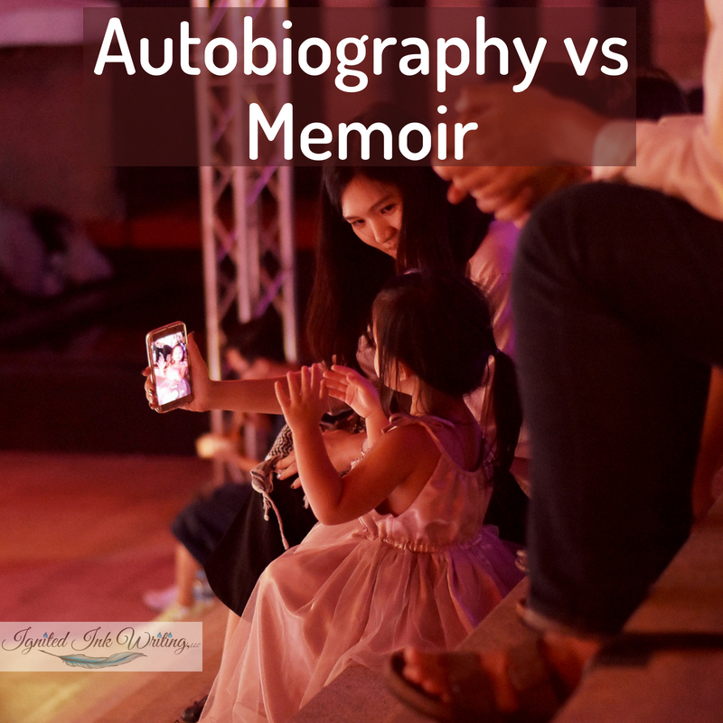 Are you writing a nonfiction story about a specific person? Is it about you or someone else? If you are, then you need to know the differences between a memoir, autobiography, and biography, so you can accurately categorize your book and appeal to readers looking for your story. For 13 writing books vetted by an editor, go to  https://www.ignitedinkwriting.com/13-writing-craft-books-list