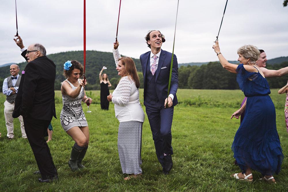maypole dance at wedding