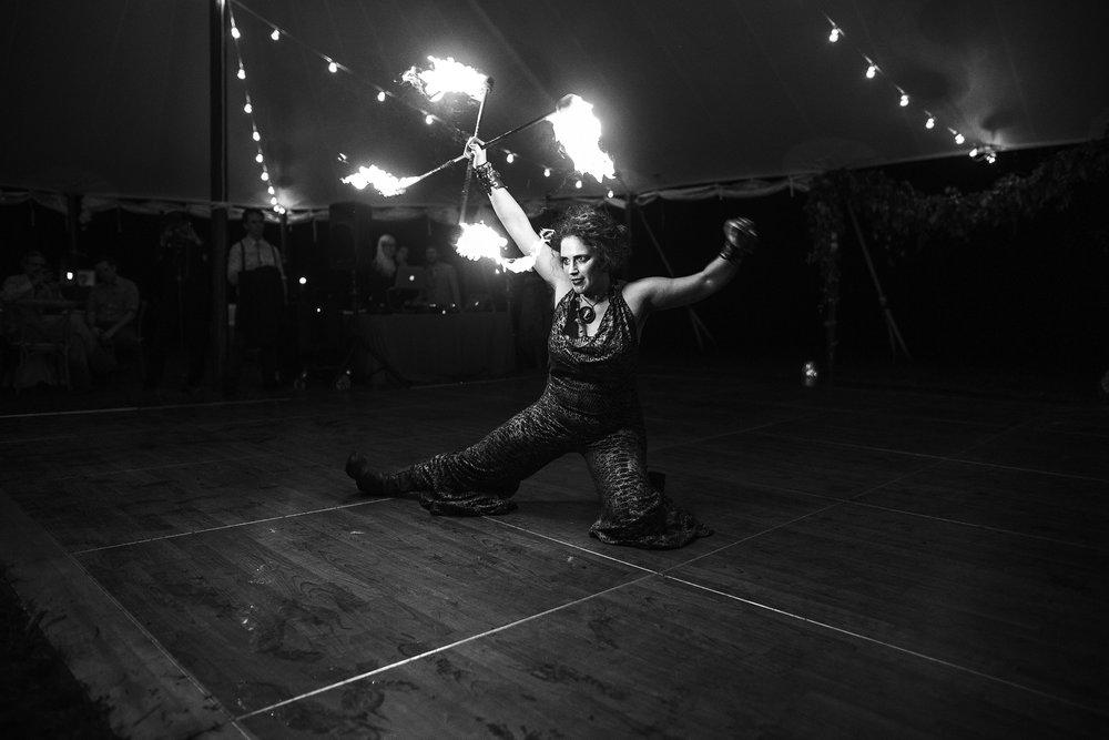 wedding fire dancer fire performance