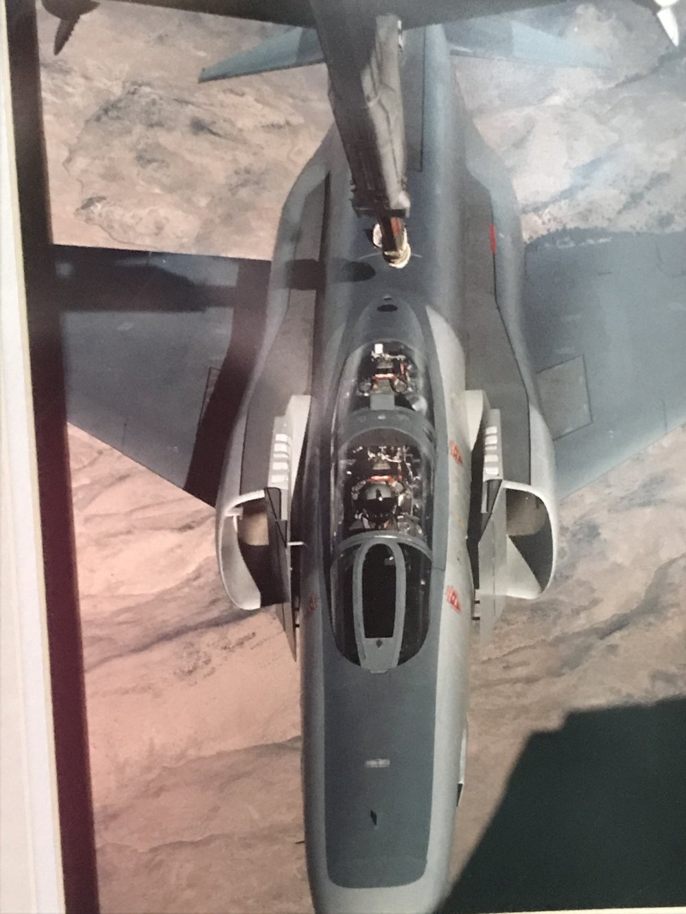 Dad is refueling in the RF-4 Phantom.