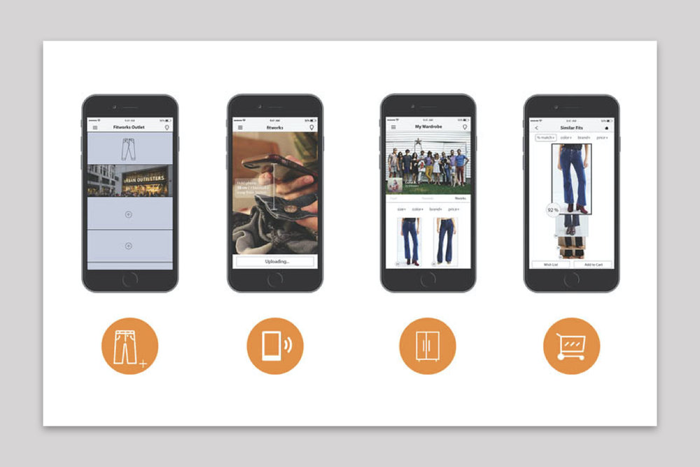 Innovation for a better fit - Designed a mobile platform and smart button that pairs apparel with their full manufacturing dimensions; enabling users to buy perfect fitting clothing.