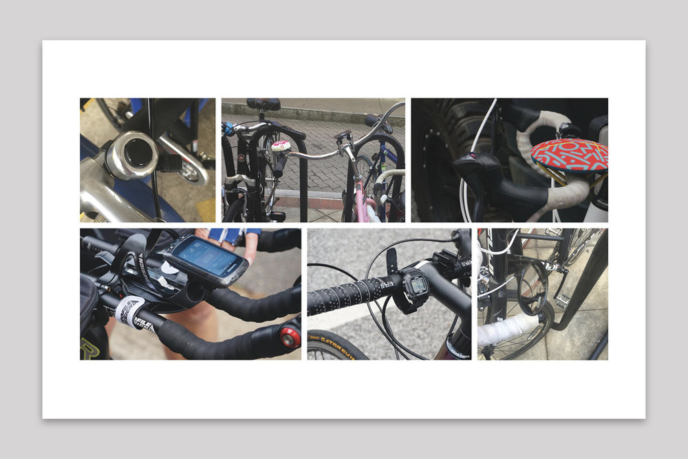 Bicycles are not designed for electronics attachments - Observed that makeshift solutions and after market products are used to attach electronics onto bicycles.