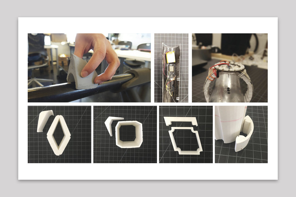 Finding the right snap-fit profile is critical for user experience - Prototyped different snap-fit geometries until one was found that not only was easy to attach and detach from the frame, but also had a holding strength enough to withstand bicycle riding forces.