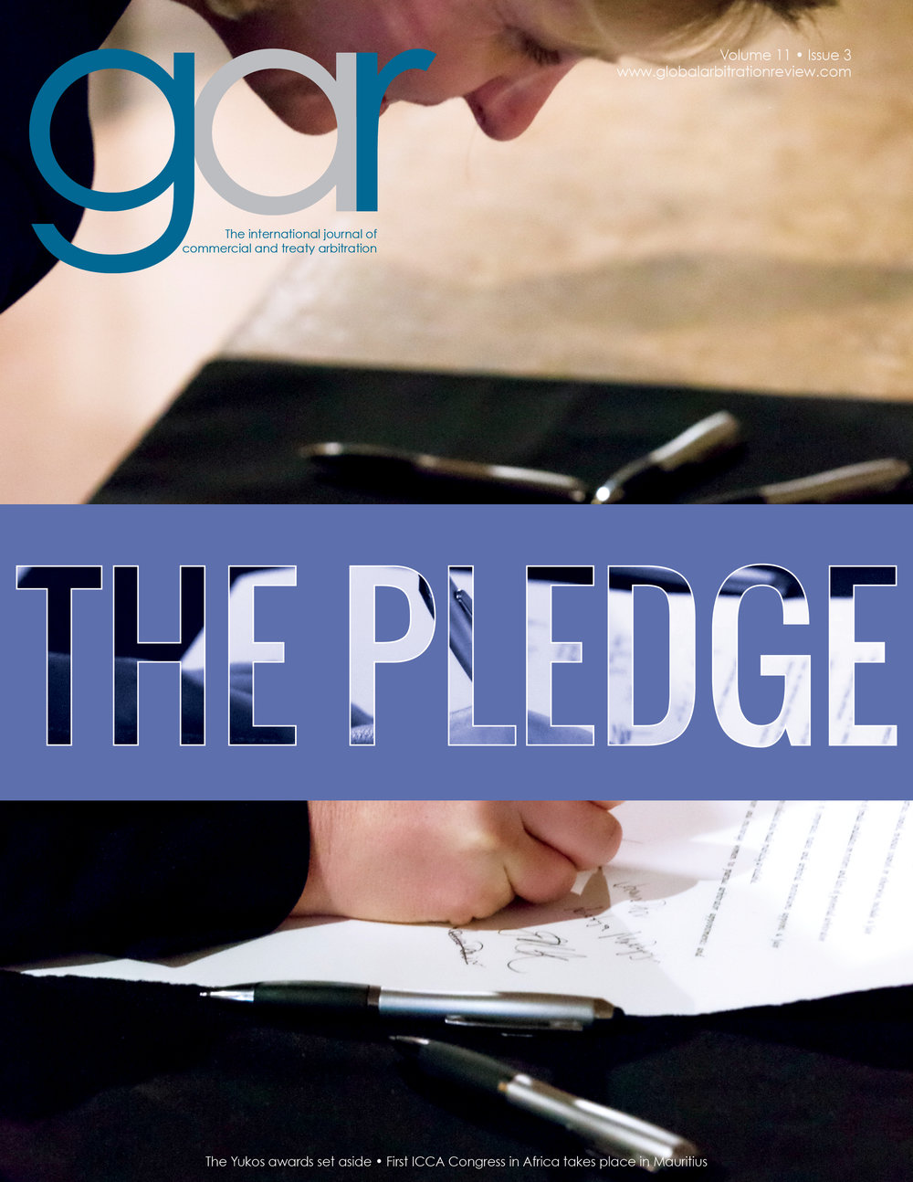 Member of the Steering Committee of the Equal Representation in Arbitration Pledge, Lucy Greenwood signing the Pledge at its launch in 2015