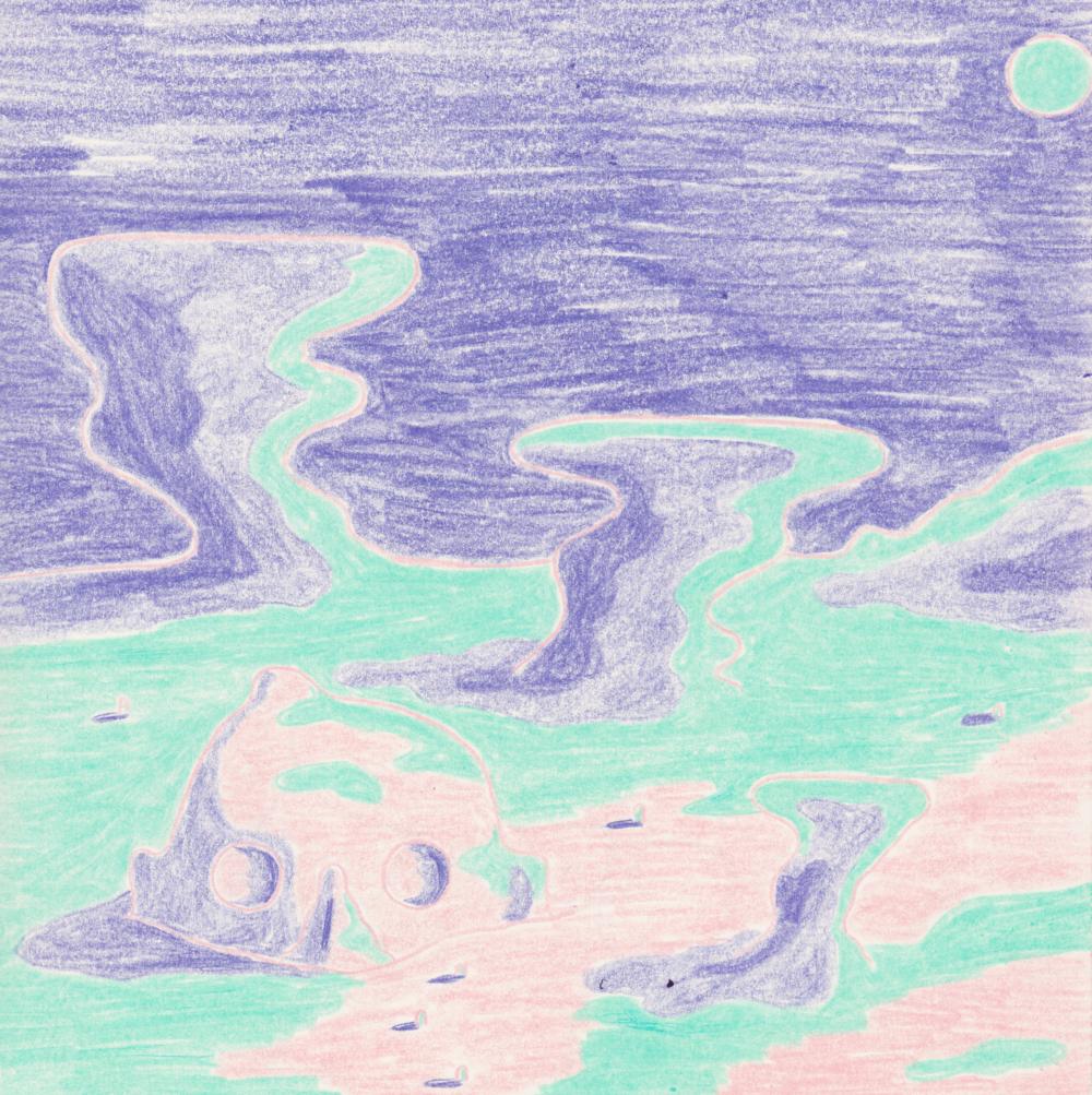fantastic planet fan art, pencil crayon (winter 2016)