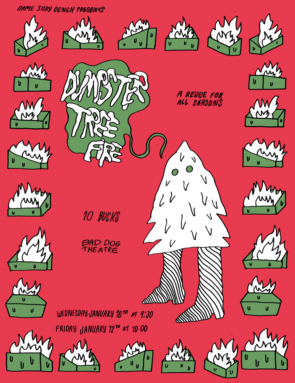 dumpster tree fire sketch show poster