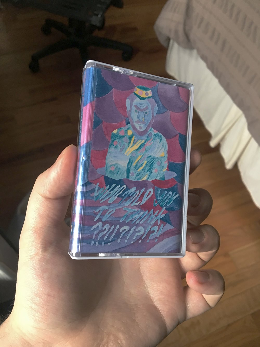 me holding the casette