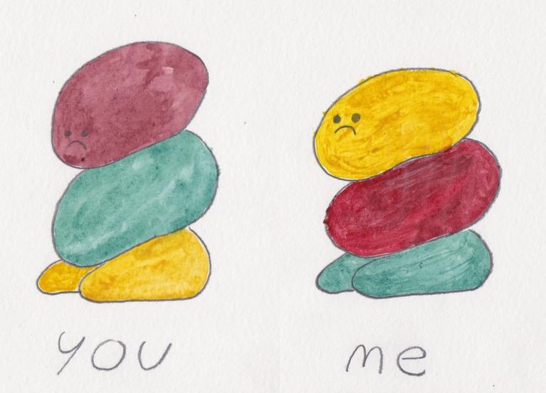 you, me