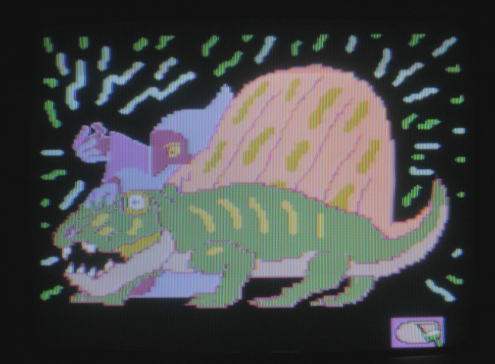 wizard and dimetrodon drawn on video painter (july 2018)