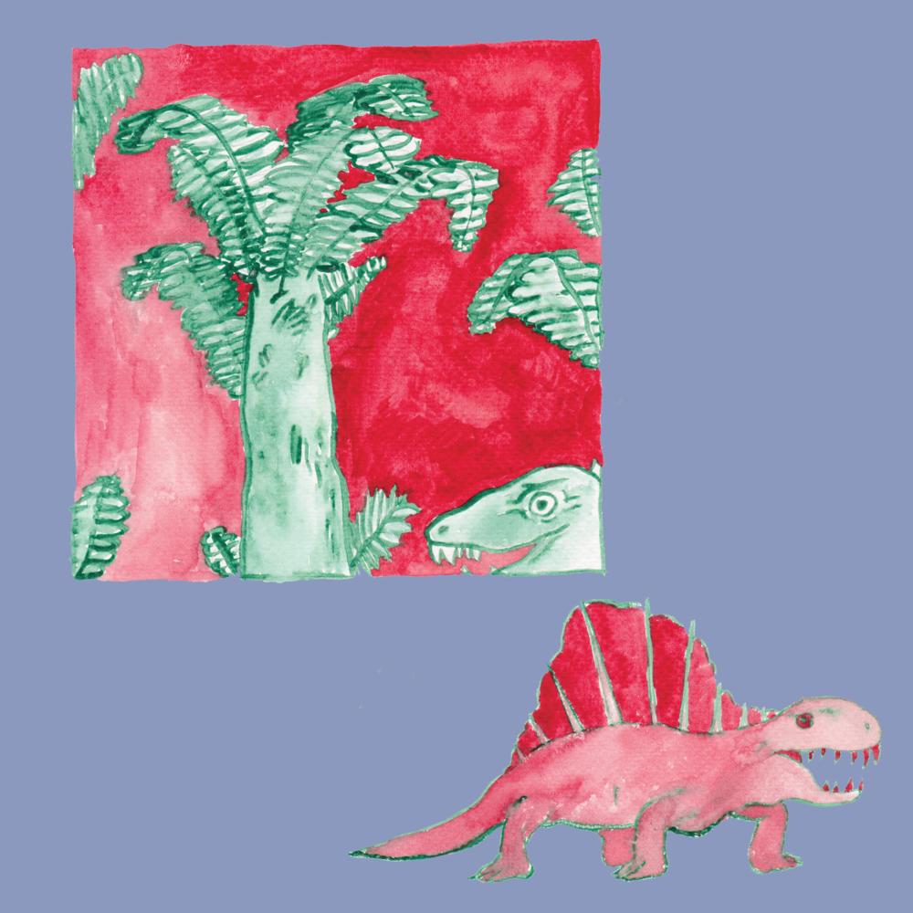 dimetrodon in forest (july 2018)