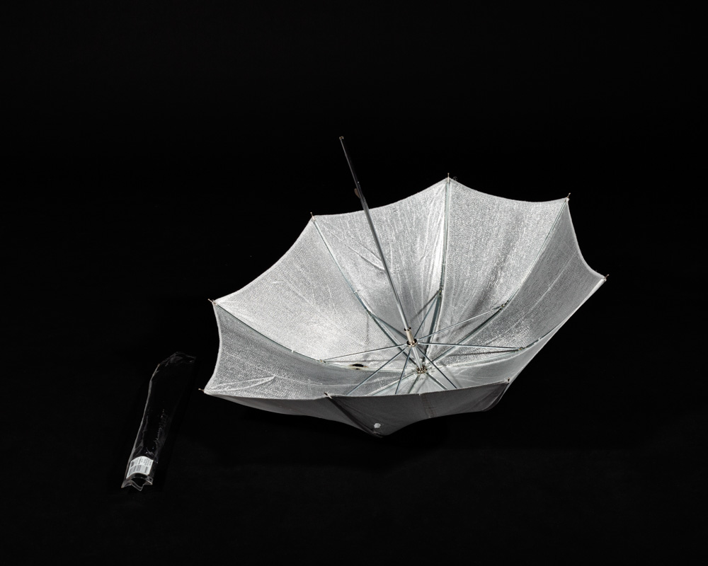 A silver Umbrella Reflector