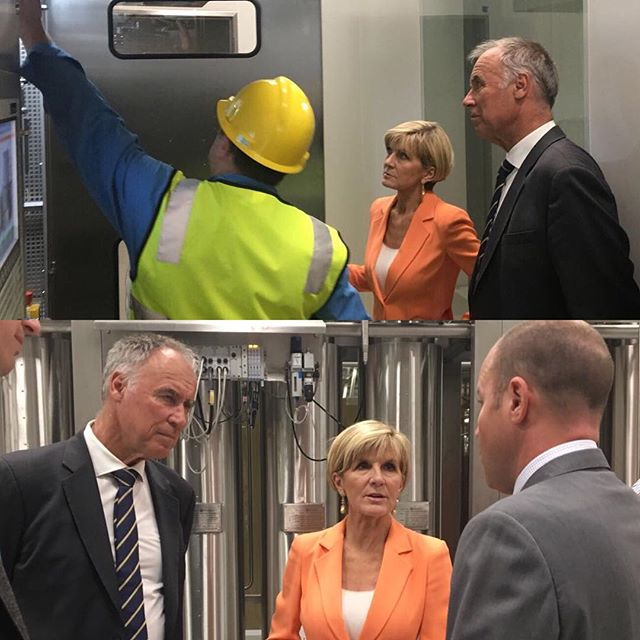 I'm in Macquarie Park with my good friend @juliebishopmp visiting AstraZeneca supporting local jobs in #Bennelong. #ServingBennelong