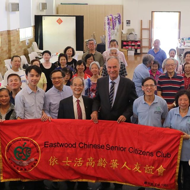 A big thank you to my friend Hugh Lee and the Eastwood Chinese Senior Citizens Club for all your support. #ServingBennelong