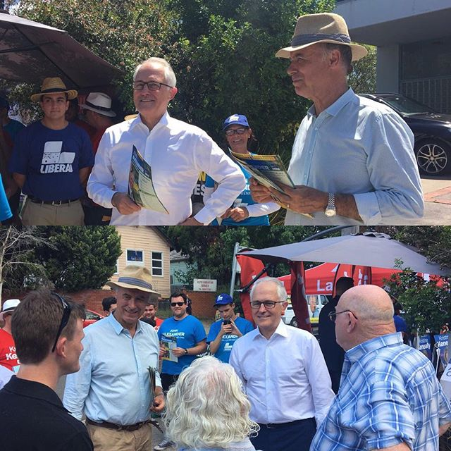 Great to have @turnbullmalcolm at West Ryde pre-poll 🗳 #Bennelong #ServingBennelong