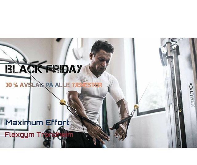 Black Friday er her! ⚑ 30 %Avslag på alle tjenester. Det vil si kostholdsplan, treningsprogram osv! Julegavetips🎅🏻 Kun i dag🔥 Mer info?  Nøl ikke med å ta kontakt gjennom mail eller facebooksidene vår. 📧 Email: Wdpgarcia@gmail.com Facebook: maximumeffortofficial eller flexgymtrondheim !👌💪 - Mvh @wdpgarcia  og @flexgymtrondheim 🏁😉