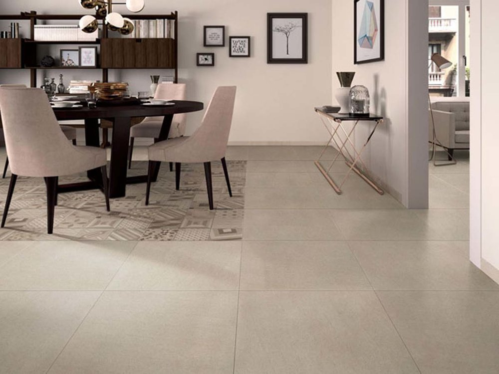 Basaltina Range - A classic stone look tile with a subtle grain creating a very classical and timeless look.Available in 5 colours – Bianco, Crema, Grigio, Graphite and Nero.Also available with a matching hexagon mosaic in either dark or light.