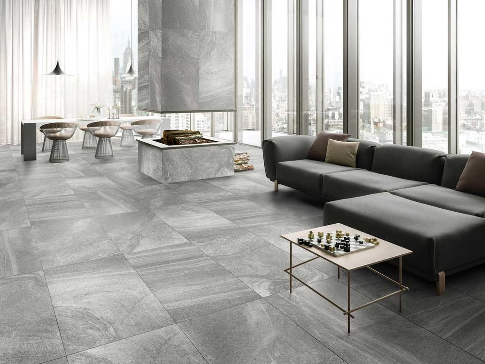 Stone System - Raw, abrasive and earthy are all words you could use to describe the latest offering from Capucino.  Stone System encapsulates everything we love about Natural Stone and is perfectly represented in a porcelain tile format. It is available in 5 magnificent colours; Bianco, Beige, Light Grey, Mid Grey and Charcoal.  600 x 600 size format and 2 finishes; Matt and Structured External.