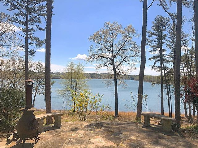 Spending this sunny afternoon checking out the beautiful views of a property right on Greers Ferry Lake ☀️