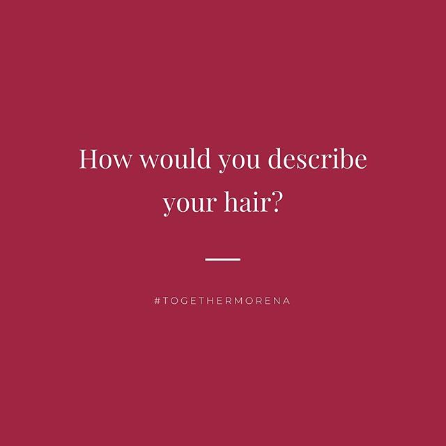 💬 #TalkAboutItThursdays. Your Hair, What's It To You? - Let's hear it. How would you describe your hair in 3 words? For us at Morena, our hair is mane-like, a lifestyle, and a 👑 we wear on the daily. Share yours with us! .  #togethermorena #curlculture #curltalk #curlconversations #curlsforthegirls #issalifestyle