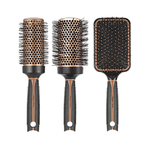 Argan Heat Brushes   Argan oil powder  infused ceramic for smooth styling