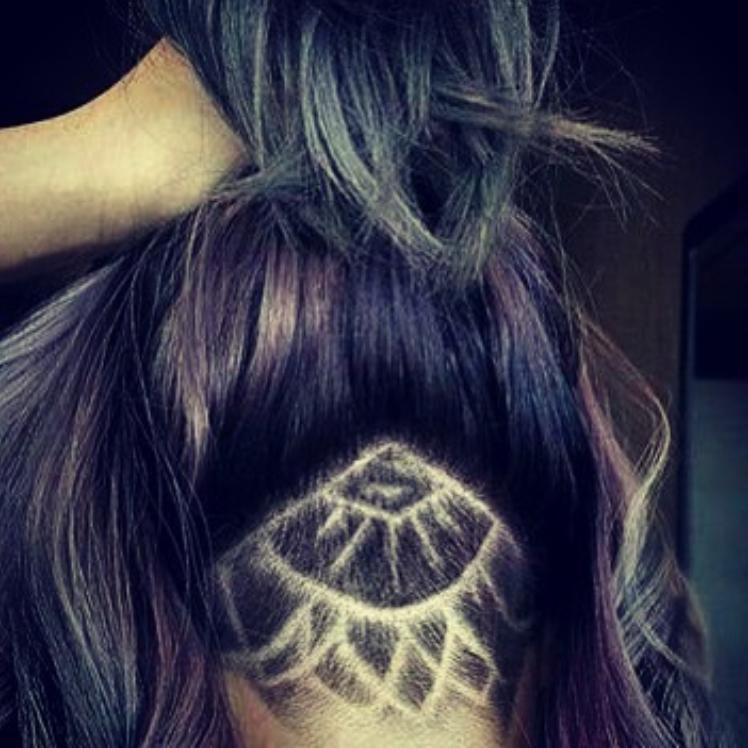 Nape Hair Tattoo