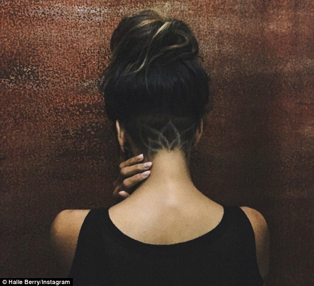 Halle Berry with Nape Tattoo