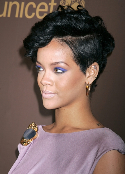 Rihanna  with side shave