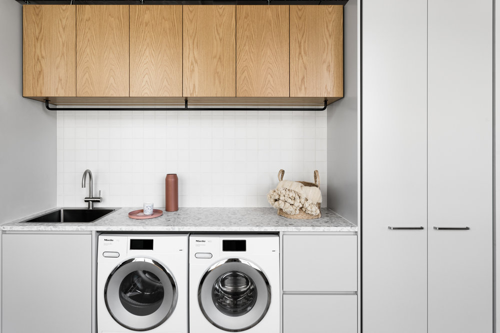 Voda Tap Curved at Design Files Open House. Laundry by Cantilever