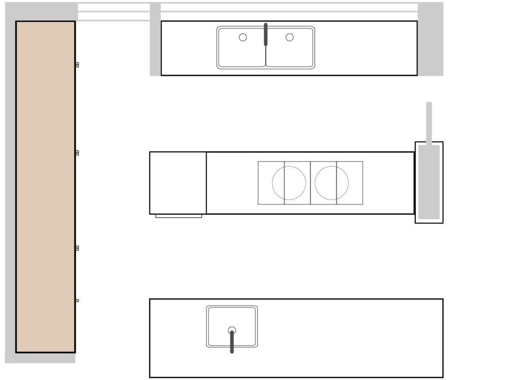Bette's Cantilever Kitchen Plan