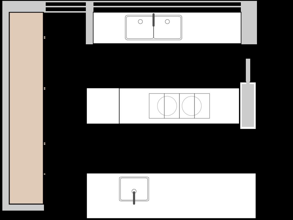 Bette's Cantilever Kitchen Plan