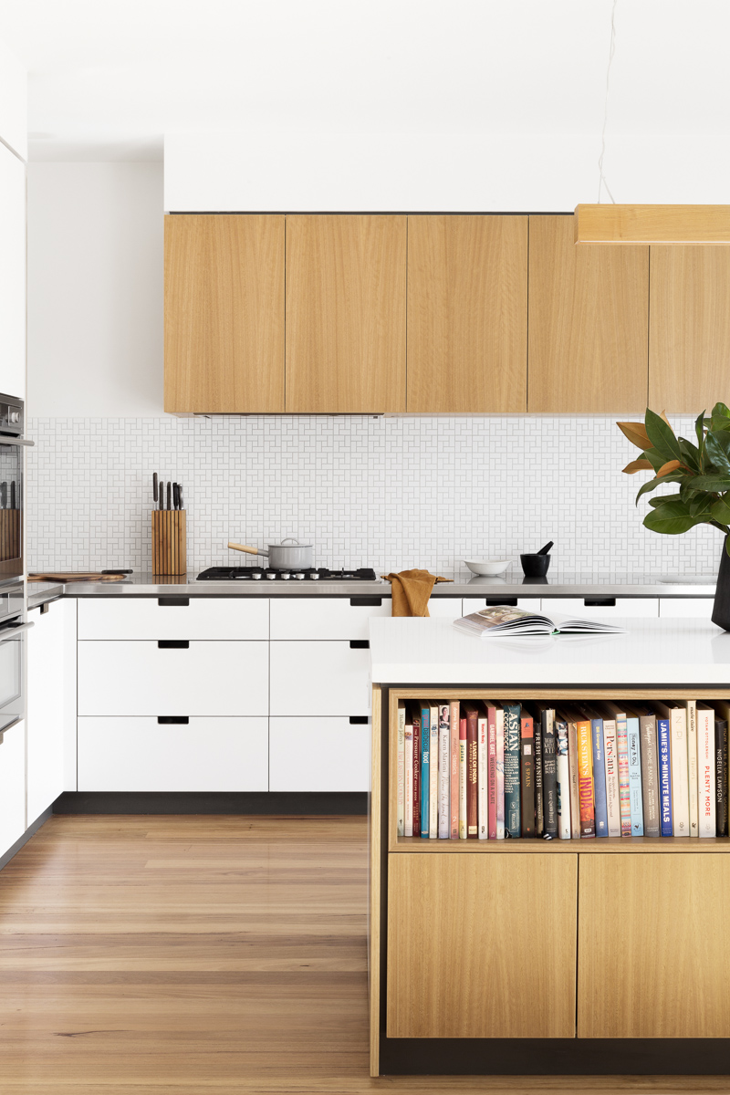 Cantilever K3 Kitchen System with Stainless Steel and Stone Benchtops at Creek House