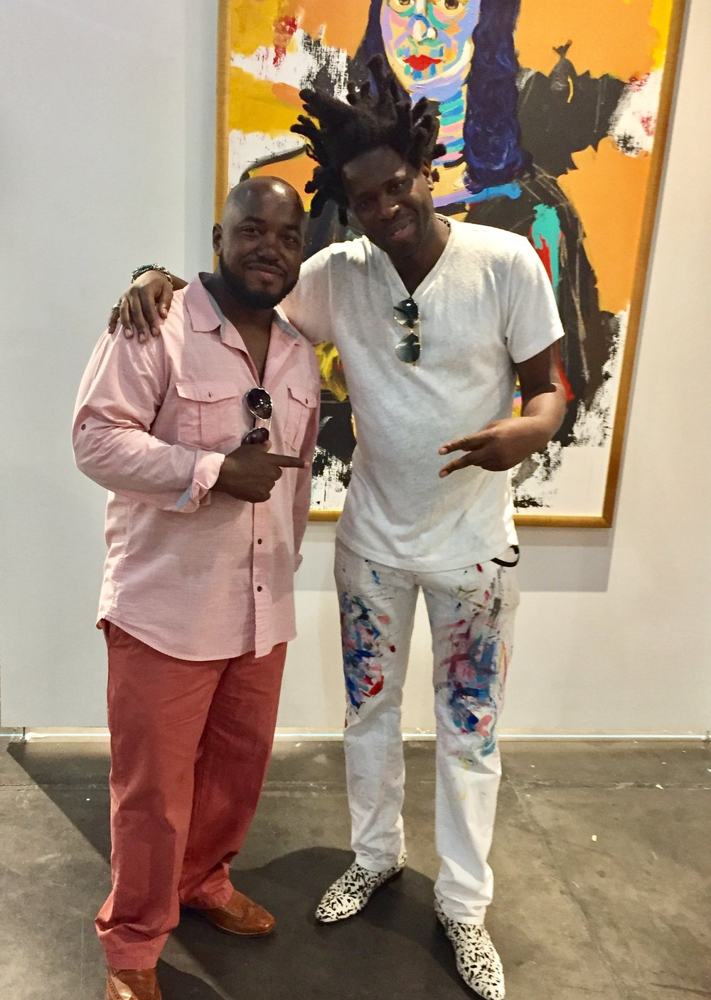 Me and Bradley Theodore at the Texas Contemporary Exhibition