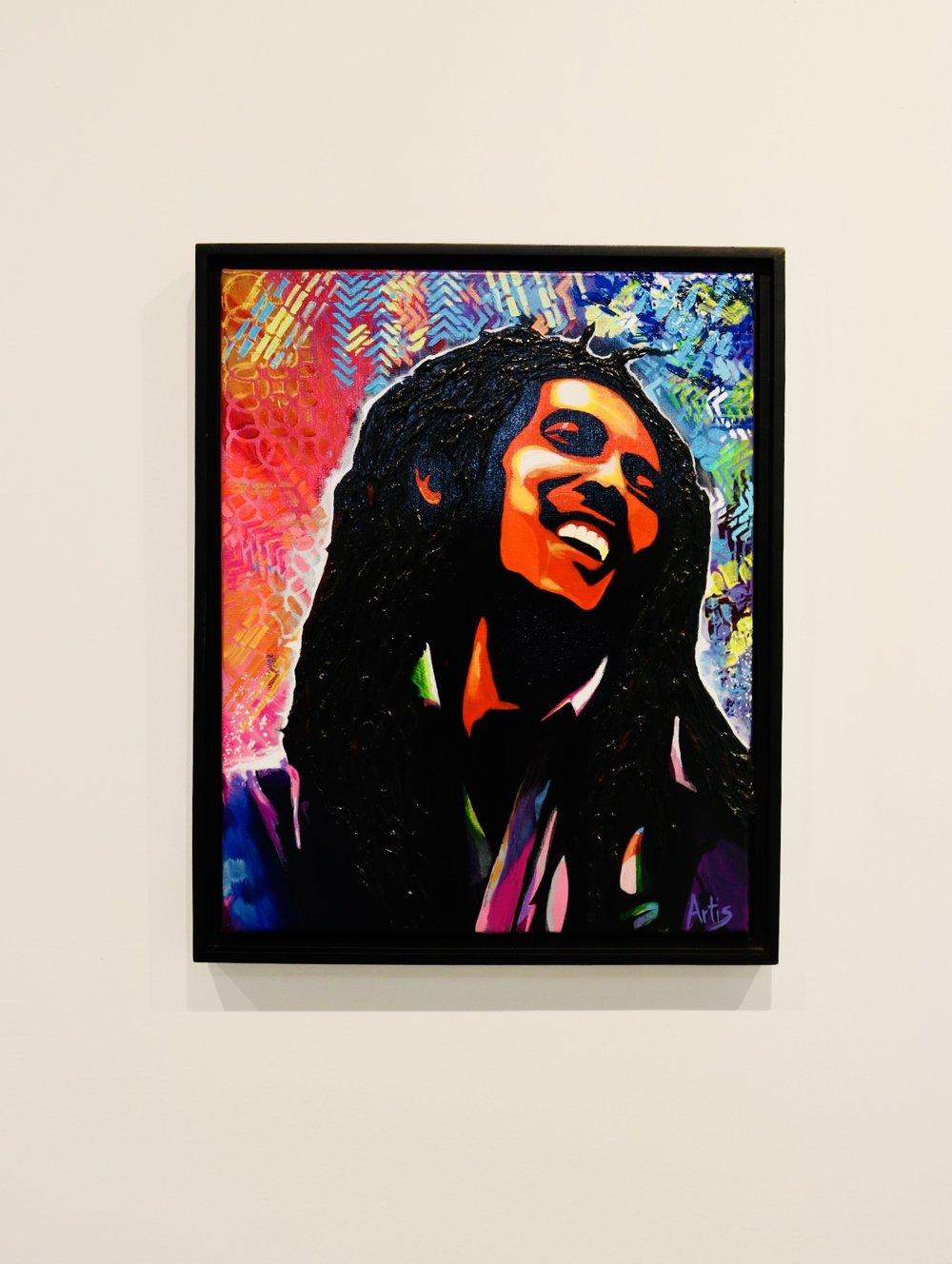 Dredlock Rasta 20 x 16 in. acrylic on canvas