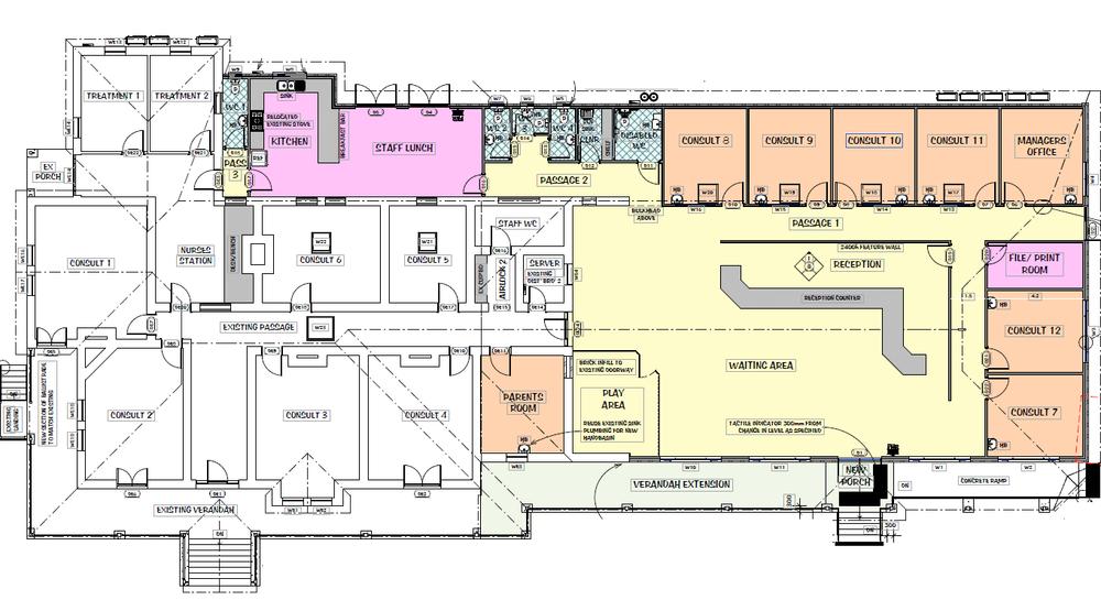 Boston Bay Family Health Practice upgrade floor plan