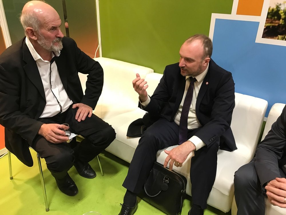 Rencontre du député avec le Président de la SAFER Bourgogne Franche-Comté Bourgogne, Jean-Luc Desbrosses.