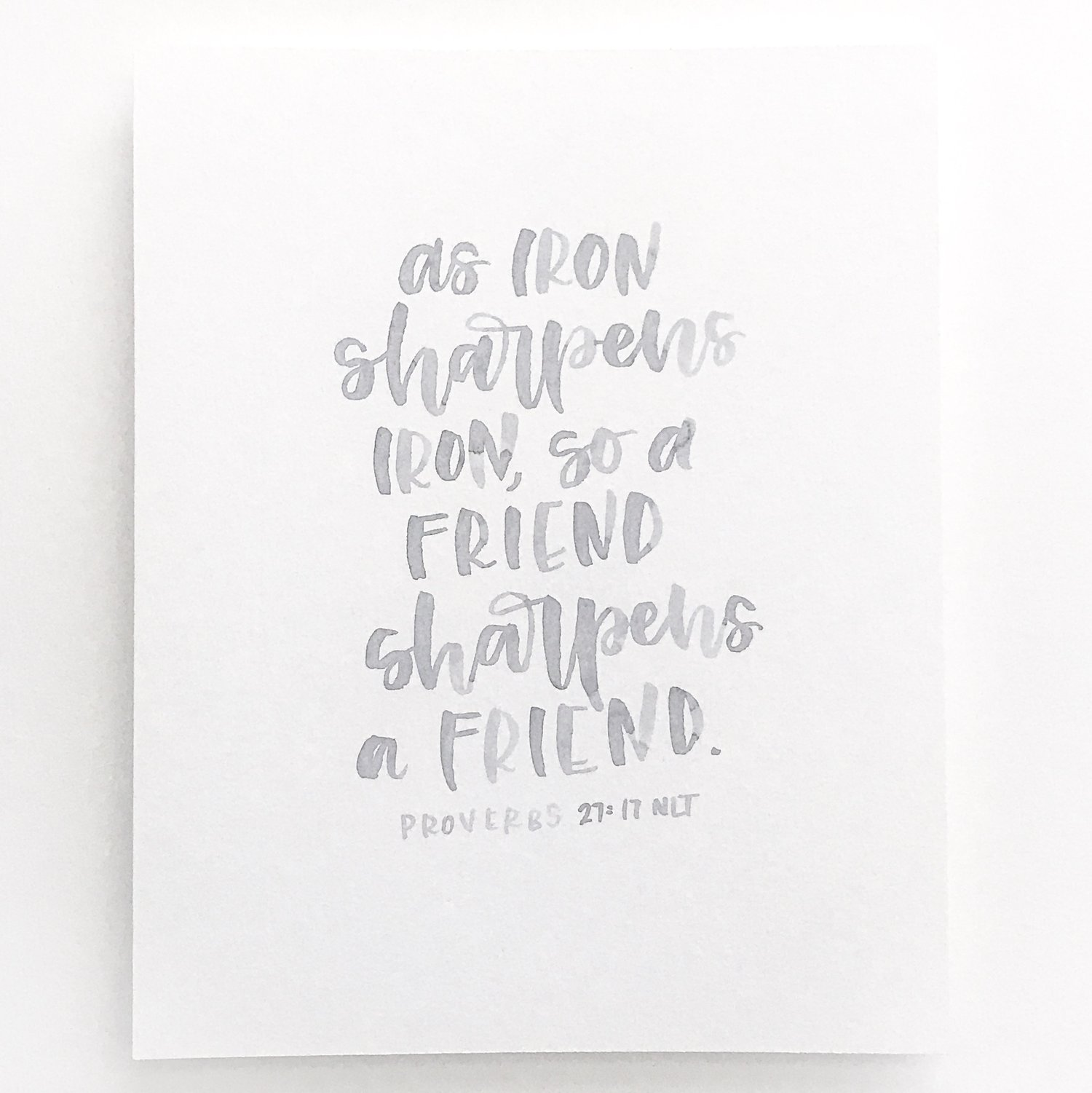 Proverbs 27:17 — lovethatletters
