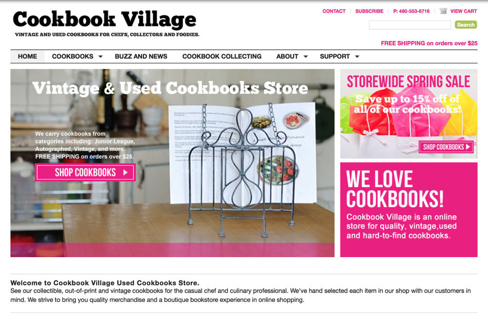 http://www.cookbookvillage.com - this looks like three separate images, but in fact it's just one that links to the store page.